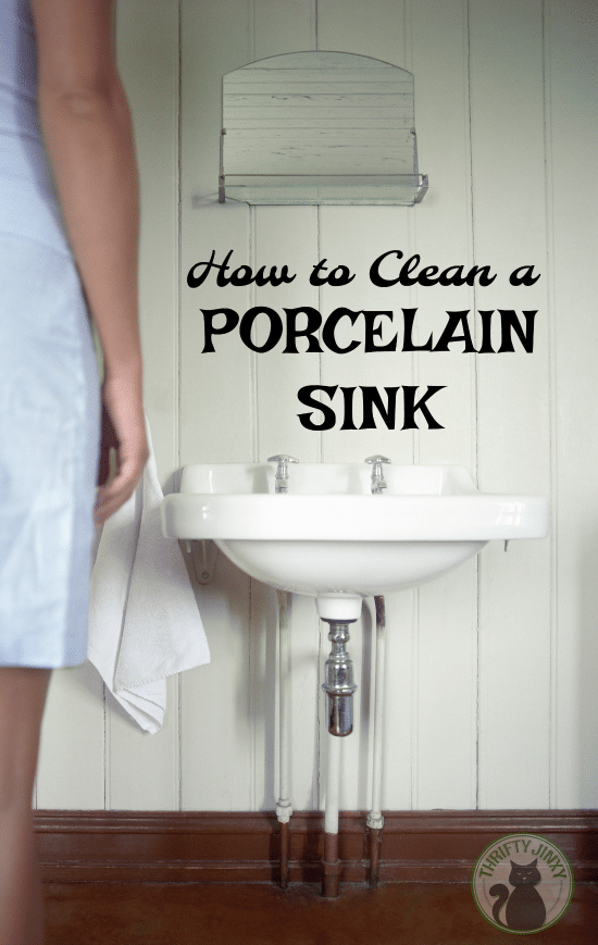 How to Clean a Porcelain Sink - Use these tips and techniques to learn how to clean a porcelain sink to get rid of dirt and stains to make your sink look beautiful again.