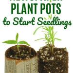 Make Newspaper Plant Pots