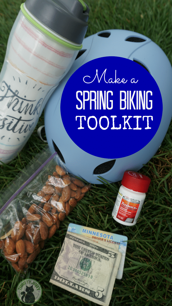 Make a spring biking toolkit filled with the things you need for a fun, safe and comfortable ride.