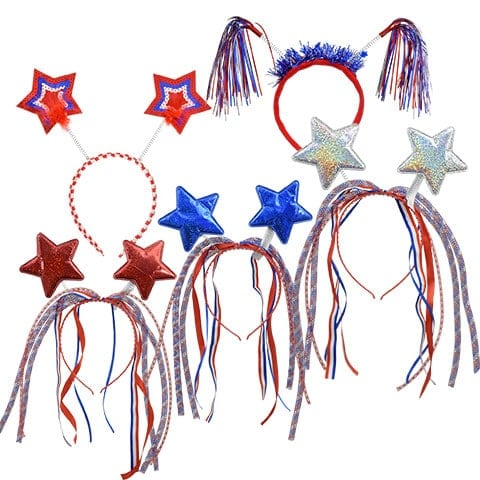 4th of July Headbands with decorations