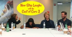 Non-Stop Laughs: Cars 3 Cast Interview with Cristela Alonzo, Kerry Washington, Owen Wilson and Armie Hammer