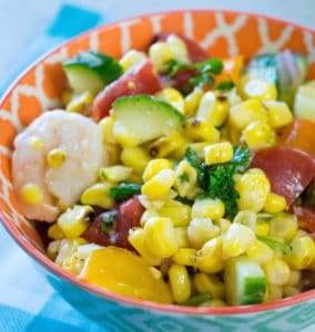 Grilled Corn and Shrimp Salad Recipe