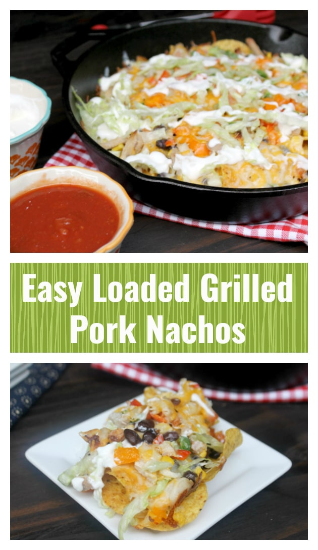 As much as I love traditional foods on the grill, I love to think outside the box. So, I decided to combine my love for the delicious Smithfield Marinated Fresh Pork with my love for Mexican foods. The result? These amazing Loaded Grilled Pork Nachos