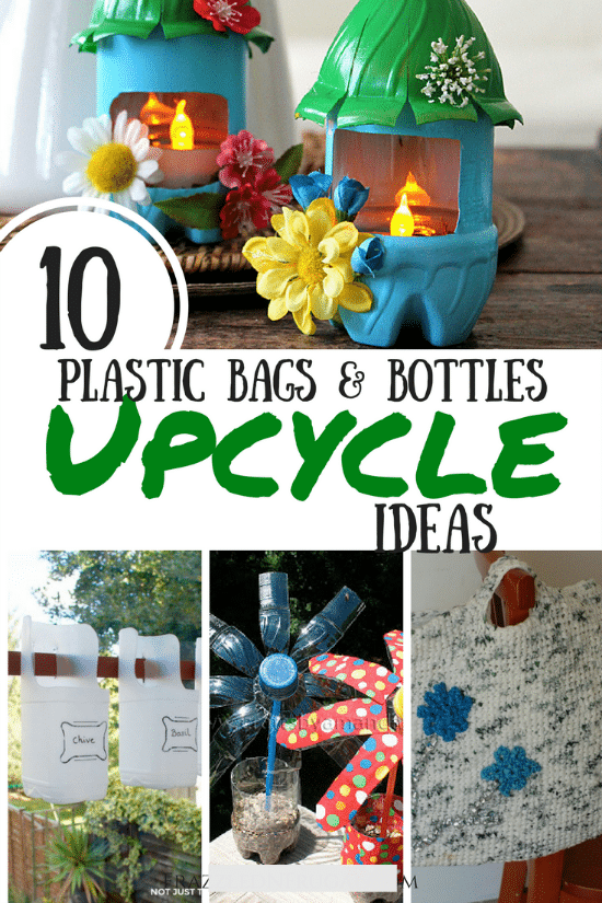 10 Ways To Upcycle Plastic Bottles And Bags Thrifty Jinxy