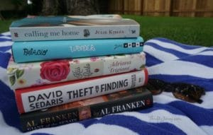 July Reading List: Trigiani, Sedaris, Franken, Trigiani, Palacio, Kibler + Reader Giveaway