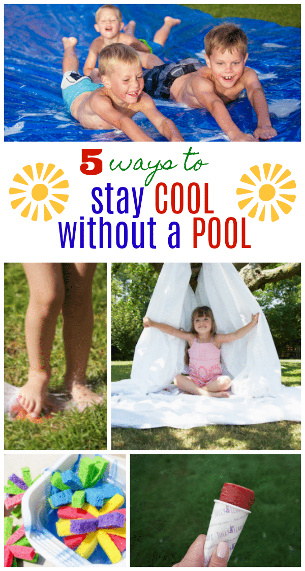 On HOT summer days you don't have to hide out indoors in the A/C. Have fun outdoors with these 5 Fun Ways to Stay Cool without a Pool!
