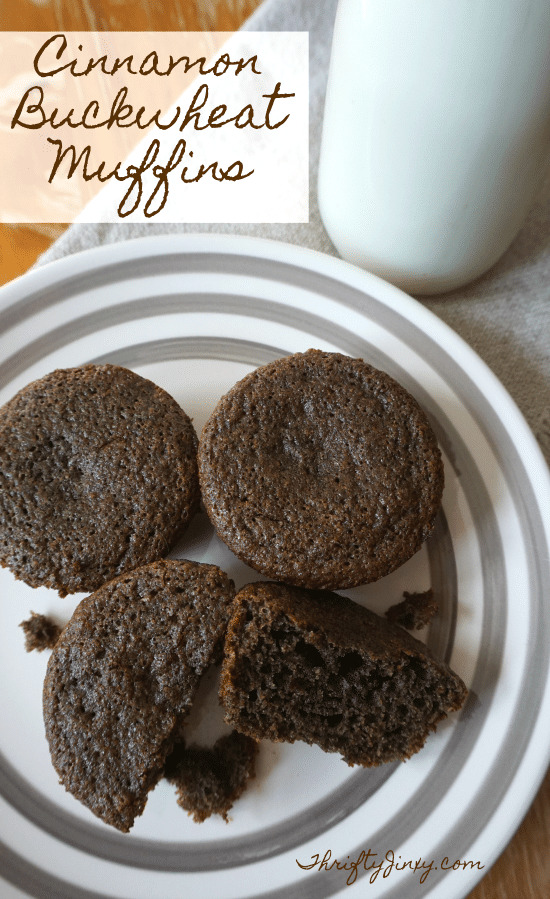 Cinnamon Buckwheat Muffins