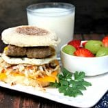 10 Minute Sausage Breakfast Stack Recipe
