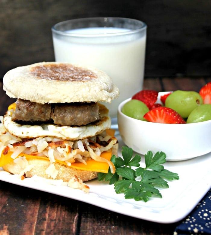 10 Minute Sausage Breakfast Stack
