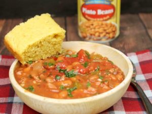 Pinto Beans and Ham with Homemade Buttermilk Cornbread