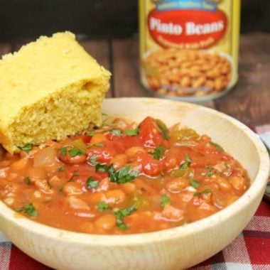 Pinto Beans And Ham With Homemade Buttermilk Cornbread mix7
