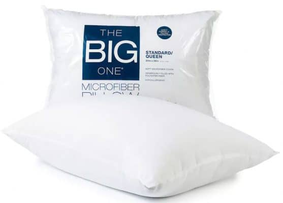 Right now at Kohl's you can get their highly rated The Big One Microfiber  Pillows for just $2.99 each (for standard/queen) or $7.99 each (for king).