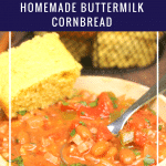Pinto Beans And Ham With Homemade Buttermilk Cornbread pin