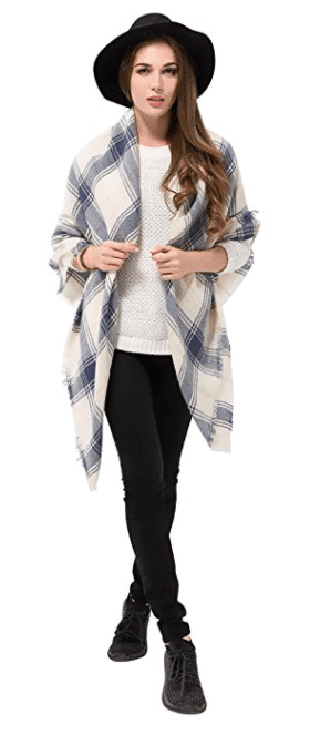 Get ready for fall with plaid blanket scarves!