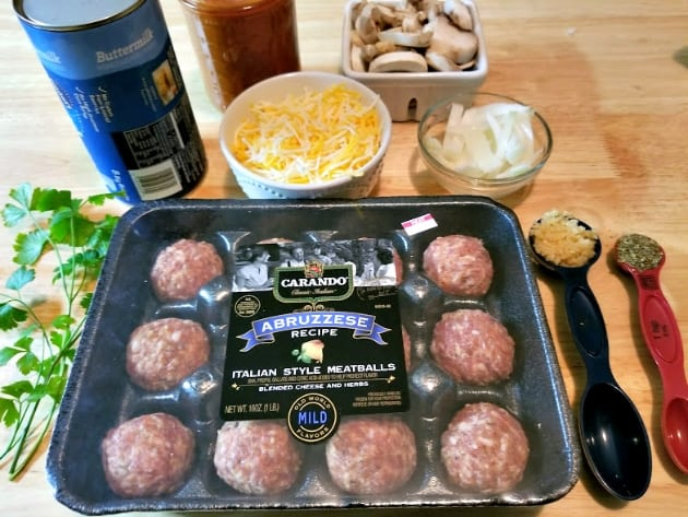 Italian Meatball And Biscuit Casserole Bake ingredients