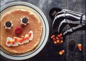 FREE Scary Face Pancake at IHOP for Halloween