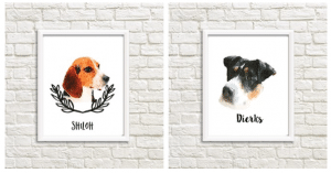 Custom Pet Watercolor Only $9.99