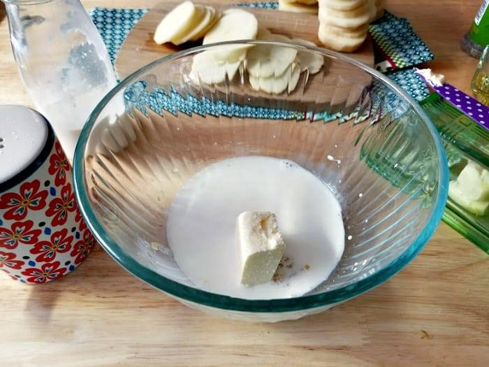 Cheesy Potato And Herb Gratin Stacks ingredients 5