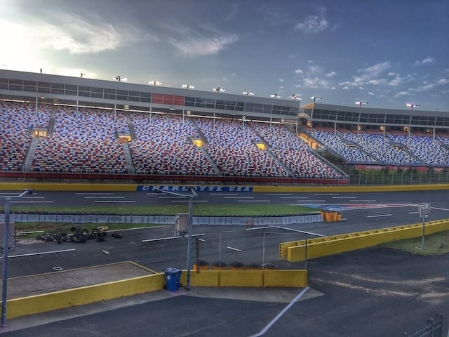 Empty Stands at Charlotte Motor Speedway