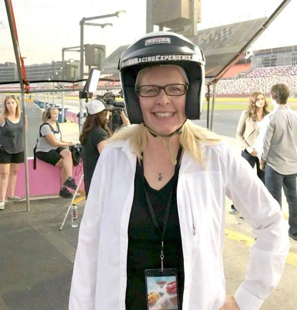 Chrysa Duran in Racing Helmet at Charlotte Motor Speedway