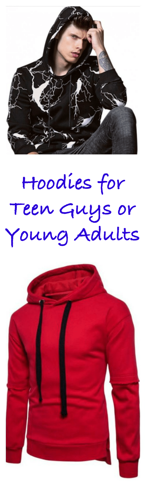 "A go-to gift for teen guys and young adults (or even what many call the feared millennial) is hoodies!! When it comes to casual fashion, or just casual clothing for those who would never consider the ""fashion"" part, you can't beat an awesome hoodie."