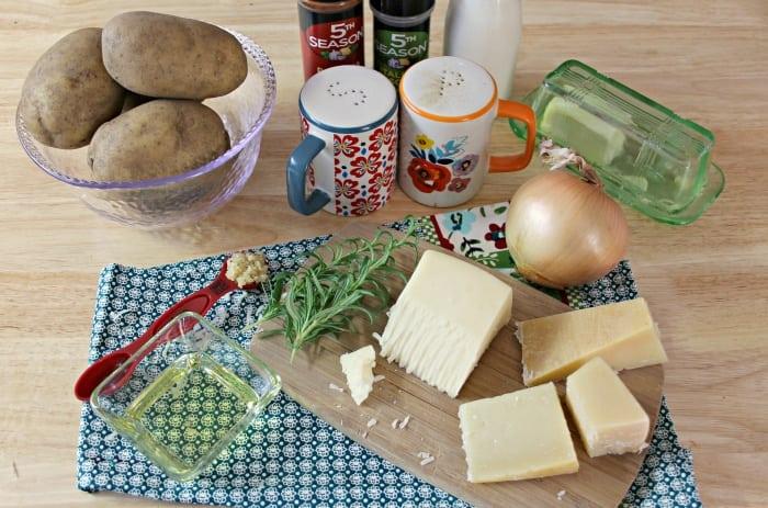 Cheesy Potato And Herb Gratin Stacks ingredients