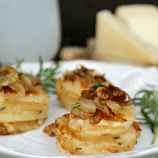 Cheesy Potato and Herb Gratin Stacks Recipe