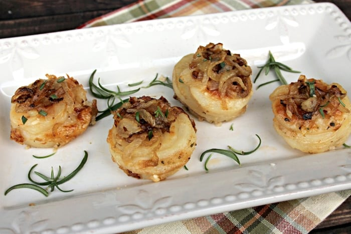 Cheesy Potato And Herb Gratin Stacks ingredients 8