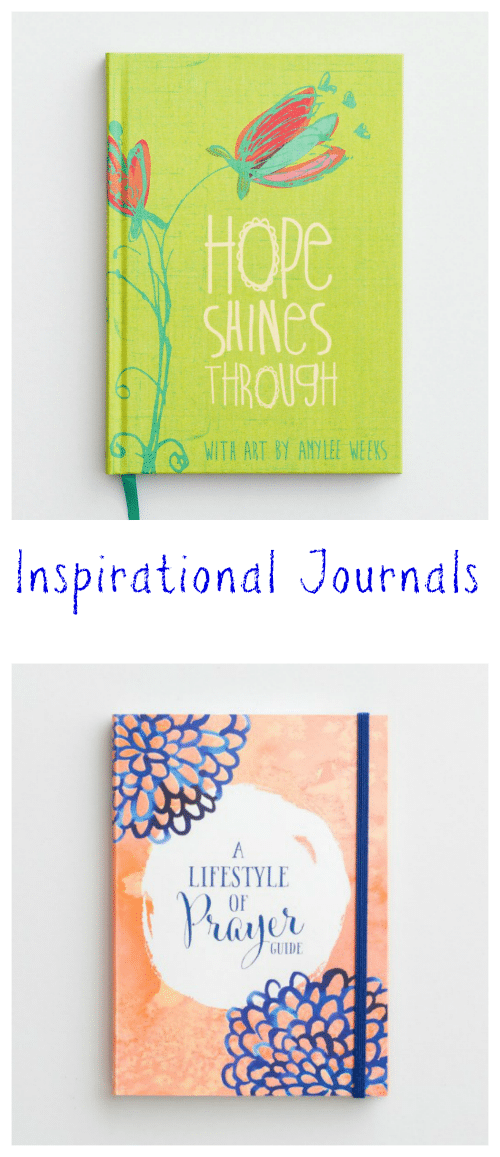 Inspirational Journals make a thoughtful gift for anyone who wants a place to record inspiring thoughts, meaningful Scripture and prayer requests.