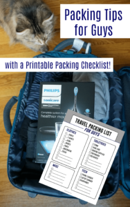 Packing Tips for Men – With a Handy Printable Packing Checklist!