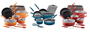 Rachael Ray 14-Piece Hard Enamel Nonstick Cookware Set with Prep Tools Only $79.93 After Rebate + $15 in Kohl's Cash! (Reg. $300)