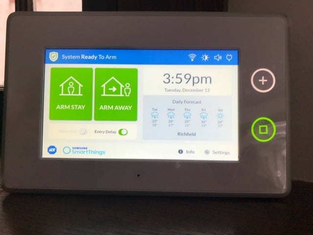 ADT Home Security Dashboard Operation