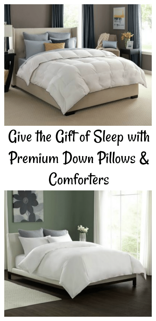 Give the Gift of Sleep with Premium Down Pillows and Comforters #DownPillows #Comforter #GiftIdeas