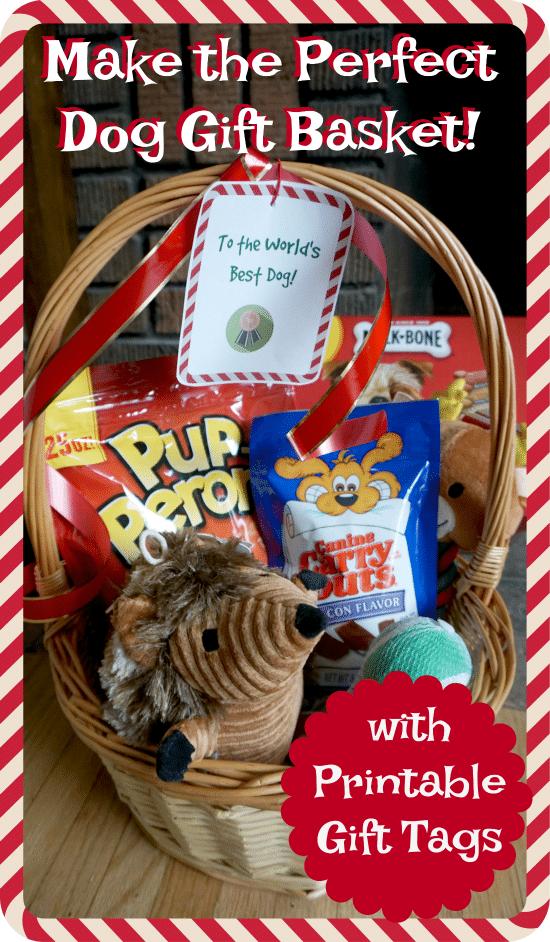 Make the Perfect Dog Christmas Gift Basket  sc 1 st  Thrifty Jinxy & Make the Perfect Dog Christmas Gift Basket - with Printable Dog Gift ...