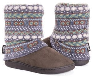 Cute and Cozy Muk Luks Women's Slippers $13.99 + Free Shipping