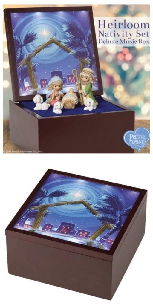 Precious Moments Nativity Set Music Box