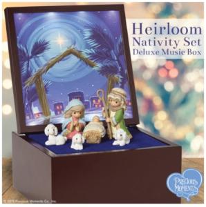 Precious Moments Heirloom Nativity Set Deluxe Music Box