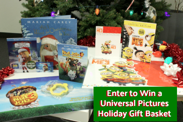 reader giveaway one lucky thrifty jinxy reader will win a universal pictures holiday gift basket containing the movies despicable me 3 mariah careys all