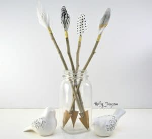 DIY Cupid's Arrow Valentine Decor Craft
