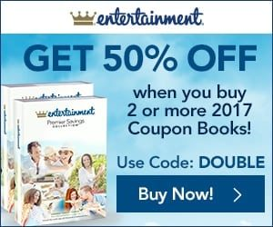 2018 Entertainment Books – 50% Off + Free Shipping!