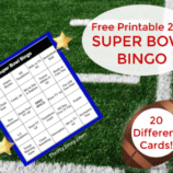 Printable Super Bowl Bingo Cards for 2019