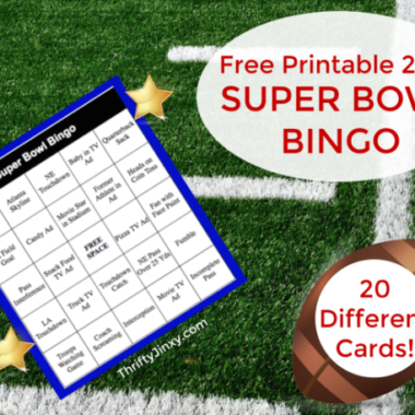 Free Printable 2018 Super Bowl Bingo