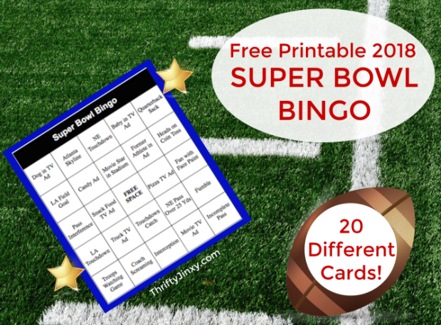Free Printable 2018 Super Bowl Bingo