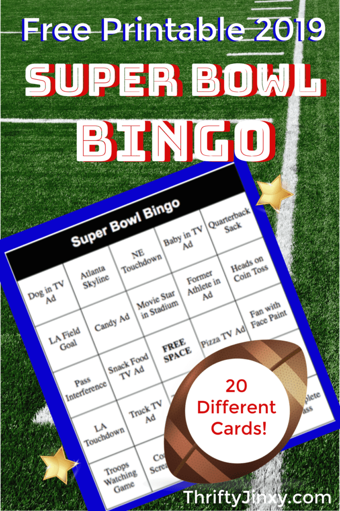 Super Bowl Bingo 2019