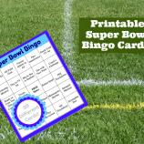 Printable Super Bowl Bingo Cards for 2018