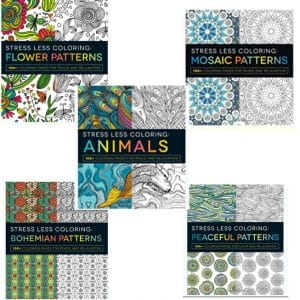 Stress Less Coloring Books 5-Pack, $12.99 + Free Shipping