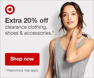 Target.com: Extra 20% Off Clearance Apparel and Accessories