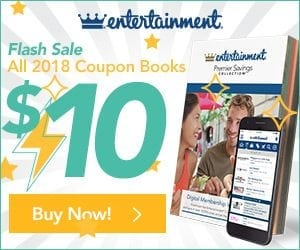 2018 Entertainment Book for $10 + FREE Shipping!