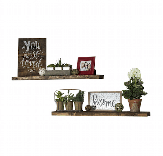 Farmhouse Floating Wood Shelves