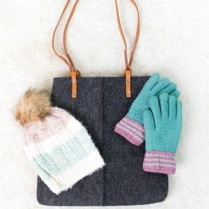 Cute Felt Handbag + Two Winter Accessories for $19.99 Shipped